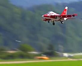 Model Jet in Flight