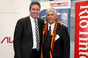 Minister for Aboriginal Affairs Peter Collier with Western Australian Aboriginal Advisory Council member Robert Isaacs